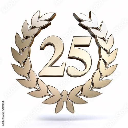 Leinwanddruck Bild 25 Years Silver Jubilee