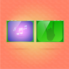 Music player vector illustration