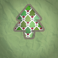 A Christmas crumpled paper Background with Space for your Text.