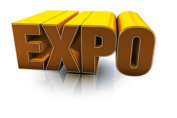 Expo testo 3D arancio