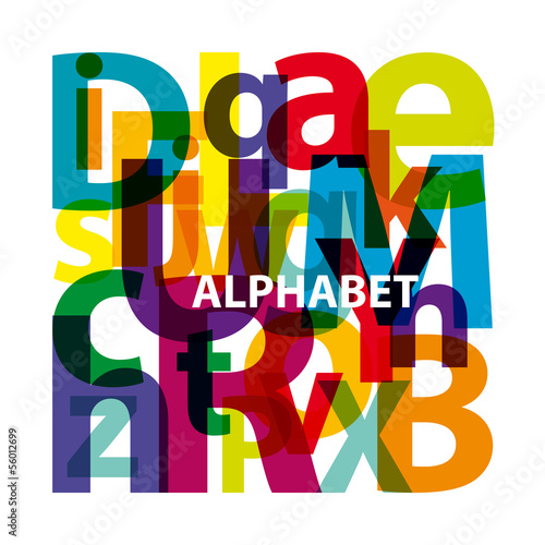Vector 	Abstract Colour Alphabet