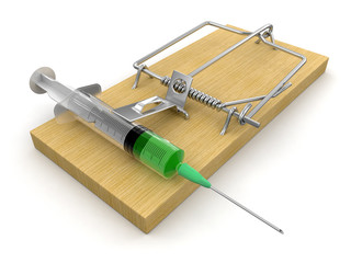 Mousetrap and Syringe (clipping path included)