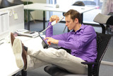 bad sitting posture during office work
