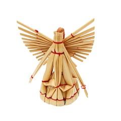 Handmade christmas decoration angel from straw
