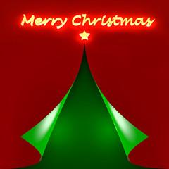 Biglietto auguri Natale feste luminoso