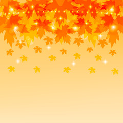 Autumn background with maple foliage.Vector illustration.