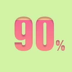 Ninety percent symbol