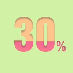 Thirty percent symbol
