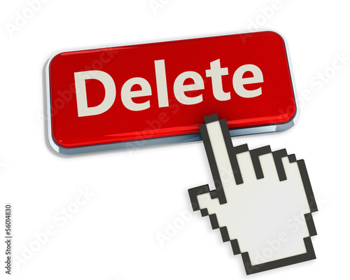 Delete button and hand cursor