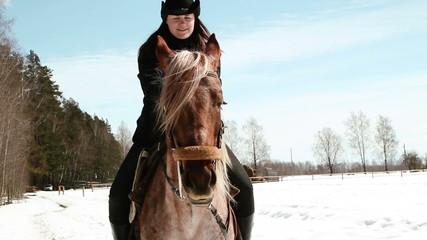 girl cowboy sitting on a horse