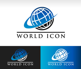 Swoosh World Icon