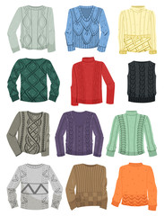 Sweaters with patterns