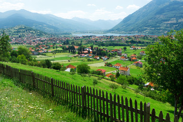 Panoramic view of Plav town