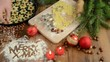 Christmas baking process for pastry Merry X-mas