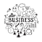 Hand-drawn business illustration