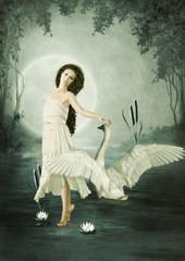 Lunar swan