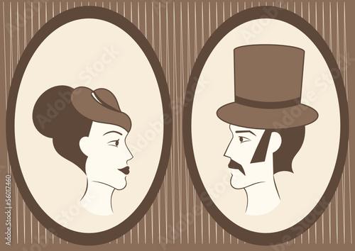 dame-und-herr-gestaltete-portrats