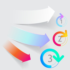 arrow origami style banner. Vector illustration.