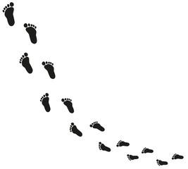 Fußabdrücke