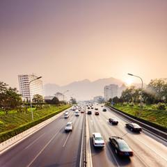 civil traffic in city