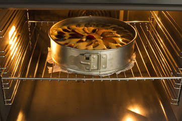 baking in oven