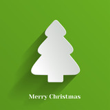 Creative White Christmas Tree. Vector Illustration.