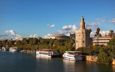 Torre del Oro Old Moorish Watchtower River Guadalquivr Seville