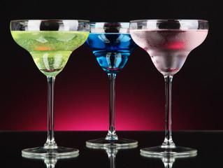Cocktails on dark color background