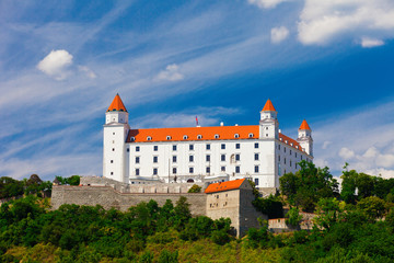Old Castle in Bratislava on a Sunny Day