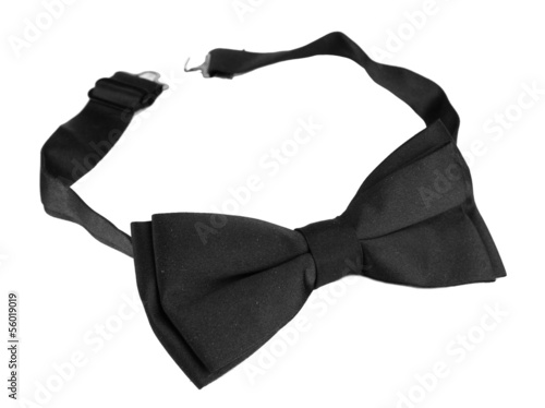 Black bow tie isolated on white
