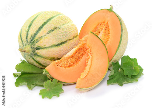 canvas print picture Blätter, Melone