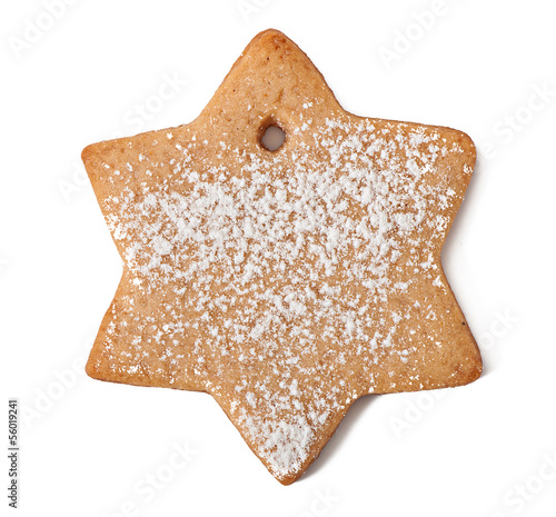 christmas cookies isolated on a white background