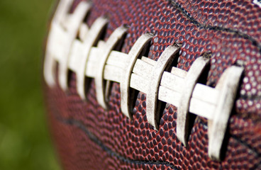 American Football Close up on Field