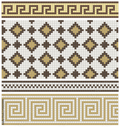 Seamless products from mosaic - friezes, decors, mixes