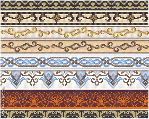 Seamless products from mosaic - friezes and decors