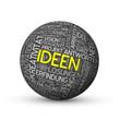 """""""IDEEN"""" Wortwolke Sphäre (Innovation Kreativität Lösungen Ikone)"""