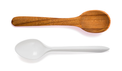 Two spoon isolated