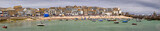 Panoramic shot of at St Ives harbour Cornwall England UK