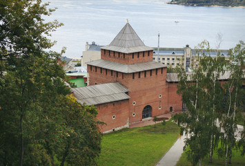 Ivanovskaya tower of the Nizhny Novgorod Kremlin. Russia