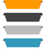 Fototapety Color paper labels.