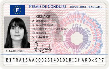 Nouveau permis de conduire français