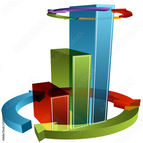 Wrapped Arrow Bar Chart