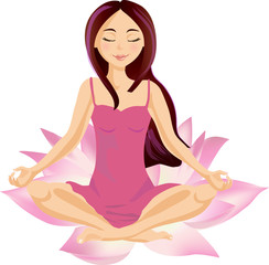 Girl Meditating/Relaxing in Lotus