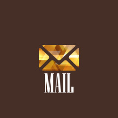 illustration with diamond mail icon