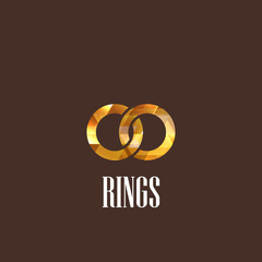 illustration with diamond rings icon