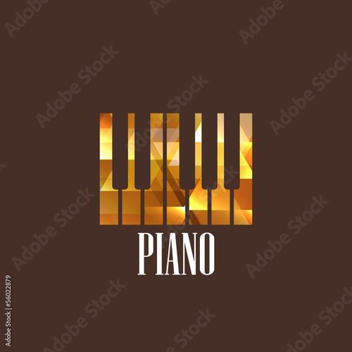 illustration with the diamond piano keys icon