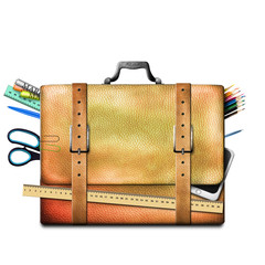 Bag and school supplies