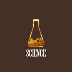 illustration with laboratory equipment icon. science concept