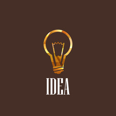 illustration with a light bulb
