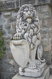 Lion at the Royal Peles Castle, Sinaia, Romania poster